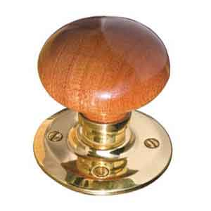 Accessories - Dark Wood Mortice Knob Unsprung