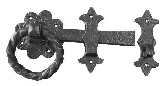 Black_antique - Ring Gate Latch
