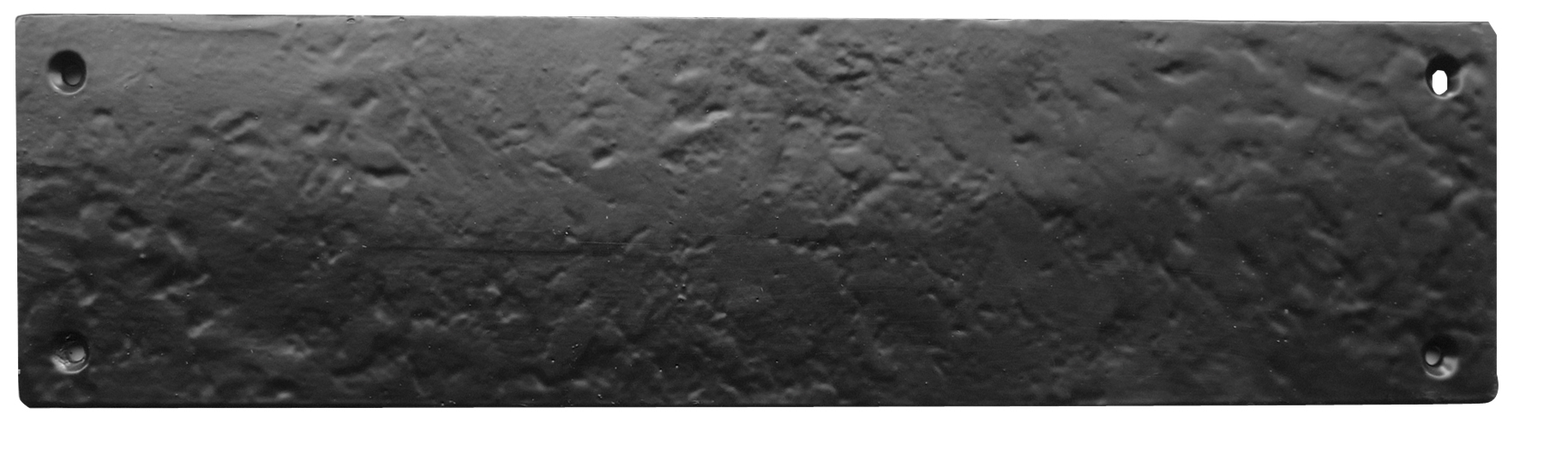 Black_antique - Fingerplate With Square Corners