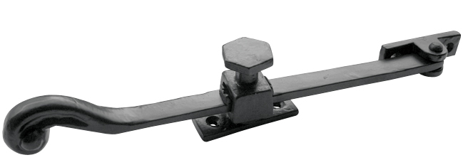 Black_antique - Screwdown Casement Stay with Large Turn