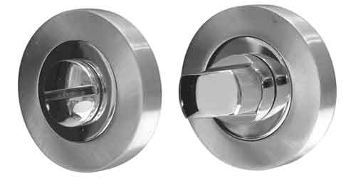 Escutcheons - Twin Designer Bathroom Turn and Release