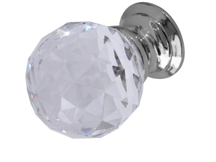 Glass_and_acrylic - Faceted Glass Cupboard Knob