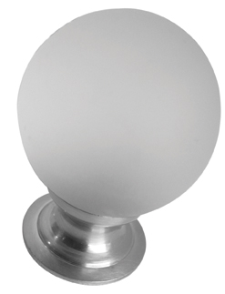 Ball Shaped Glass Cupboard Knob